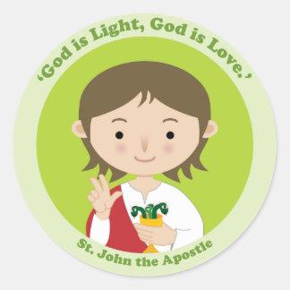 St. John el apóstol Pegatina Redonda
