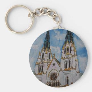 St John el arte cristiano religioso de la iglesia  Llavero Redondo Tipo Pin