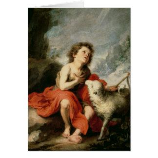 St. John el Bautista como niño, c.1665 Tarjeta De Felicitación