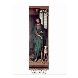 St John el Bautista de Hans Memling Postal