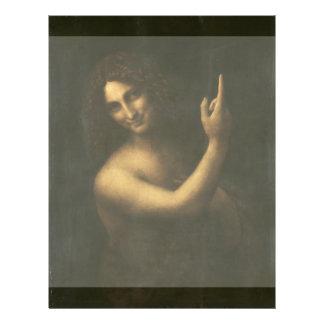 """St John el Bautista de Leonardo da Vinci Folleto 8.5"""" X 11"""""""