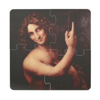 St John el Bautista de Leonardo da Vinci Posavasos De Puzzle