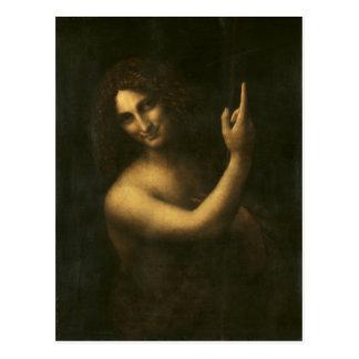 St John el Bautista de Leonardo da Vinci Postal