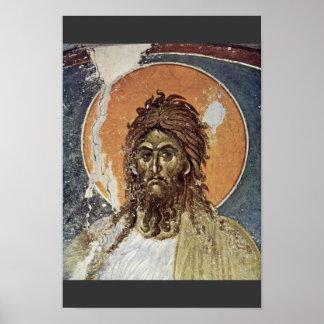 St. John el Bautista de Meister Von Gracanica (sea Poster