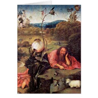 St John el Bautista en el desierto (meditación) Tarjeta De Felicitación