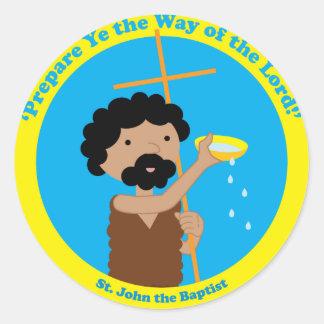 St. John el Bautista Pegatina Redonda