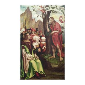 St. John el Bautista que predica antes de Herod Lona Envuelta Para Galerias