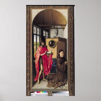 St. John el Bautista y el donante Poster