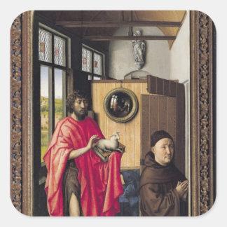 St. John el Bautista y el donante Calcomania Cuadradas Personalizada