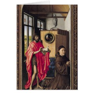 St. John el Bautista y el donante Felicitación