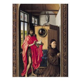 St. John el Bautista y el donante Postales