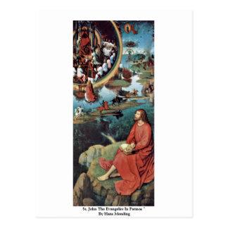 St. John el evangelista en Patmos de Hans Memling Postales