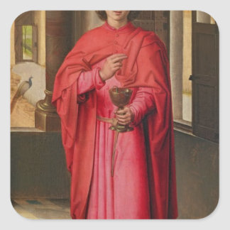 St. John el evangelista Pegatina Cuadrada