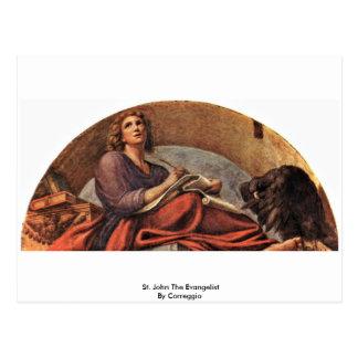St John el evangelista por Correggio Postal