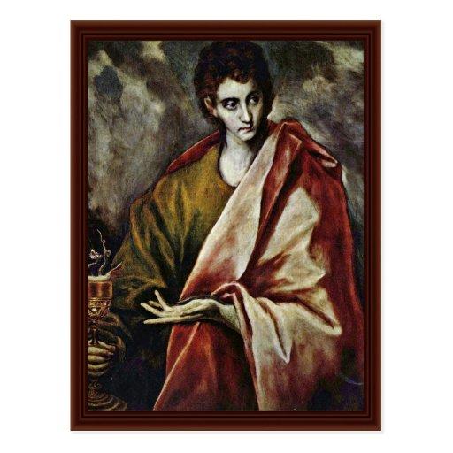 St. John el evangelista por el EL de Greco Tarjeta Postal