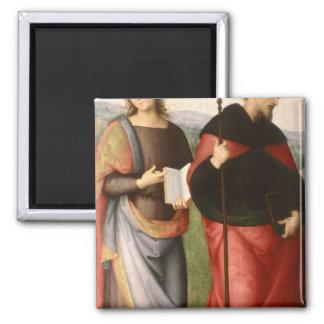 St. John el evangelista y el St Augustine de Imán Cuadrado