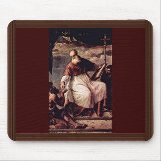 St. John el evangelista, y las limosnas por Tizian Tapetes De Raton