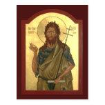 St. John el rezo del precursor y del Bautista card Postal