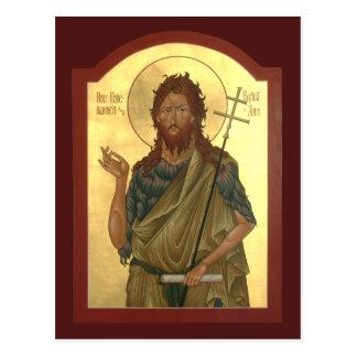 St. John el rezo del precursor y del Bautista Postal
