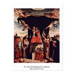 St. John el St Anthony baptista de Lorenzo Lotto Tarjetas Postales