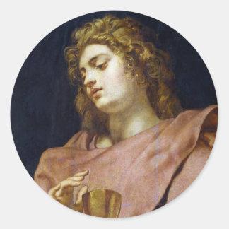 St. John Evangelist Peter Paul Rubens Classic Round Sticker