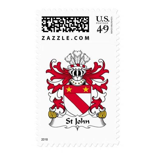St John Family Crest Postage