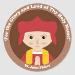 St. John Fisher Etiqueta Redonda