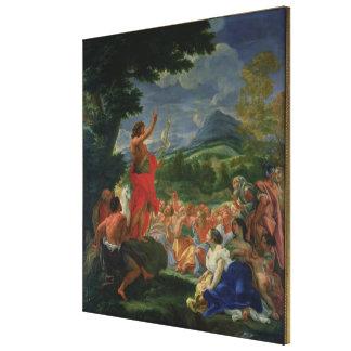 St. John la predicación baptista, pintada antes de Impresiones De Lienzo