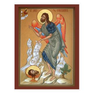 St. John la tarjeta del rezo del precursor Tarjetas Postales