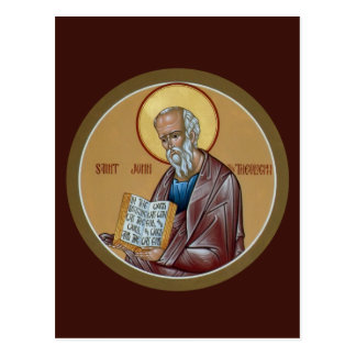 St. John la tarjeta del rezo del teólogo Postal
