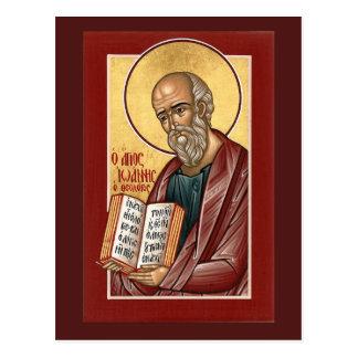 St. John la tarjeta del rezo del teólogo Postales