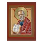St. John la tarjeta del rezo del teólogo Tarjeta Postal