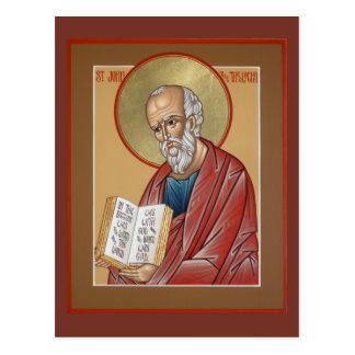 St. John la tarjeta del rezo del teólogo Tarjetas Postales