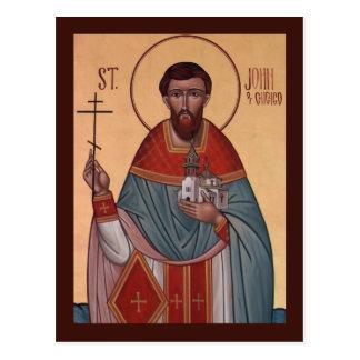 St John of Chicago Prayer Card Postcard