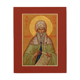 "St. John of Damascus Wood Print Icon 8""x10"""