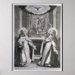 St. John of the Cross and St. Theresa of Avila Print