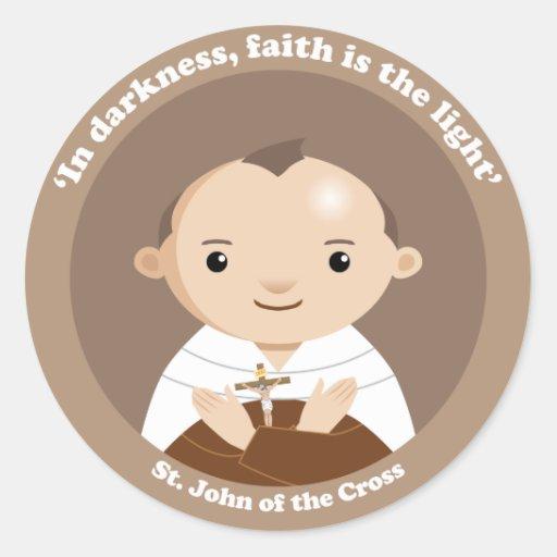 St. John of the Cross Classic Round Sticker