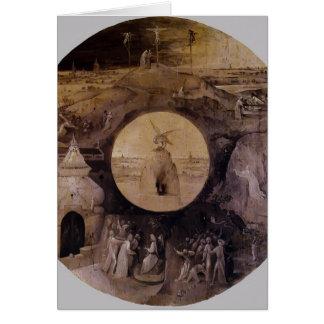 St John on Patmos by Hieronymus Bosch Greeting Card