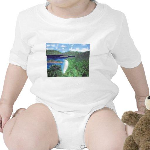 St John, opinión de la playa de las Islas Vírgenes Trajes De Bebé