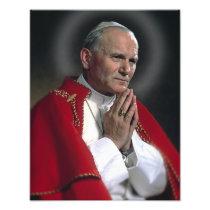ST JOHN PAUL AT PRAYER PHOTO PRINT