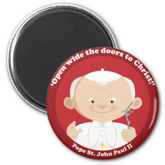 St John Paul II 2 Inch Round Magnet