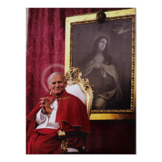 ST JOHN PAUL II AND MADONNA. POSTER