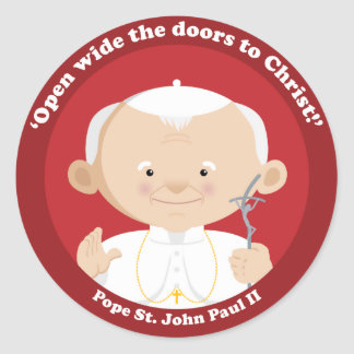 St John Paul II Classic Round Sticker
