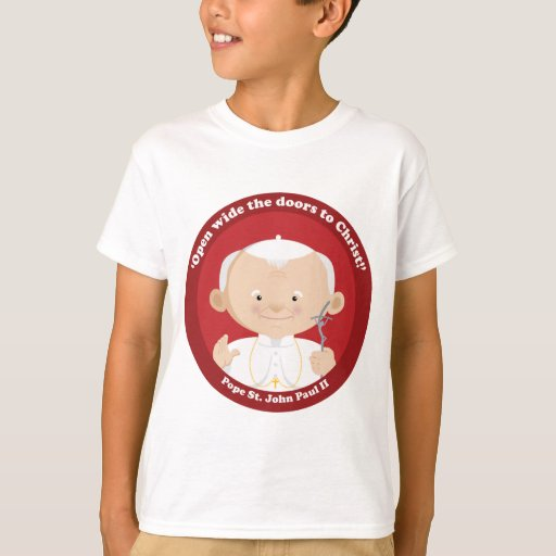 St John Paul Ii T Shirt Zazzle