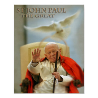 ST JOHN PAUL THE GREAT POSTER