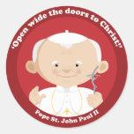 St John Paulo II Etiquetas Redondas