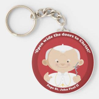 St John Paulo II Llavero Redondo Tipo Pin
