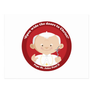 St John Paulo II Tarjeta Postal