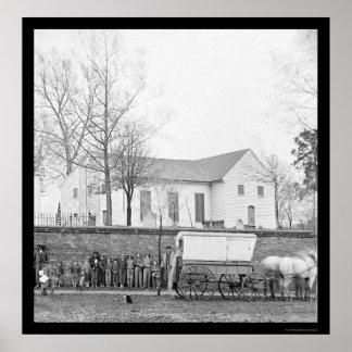 St John s Church in Richmond VA 1865 Print