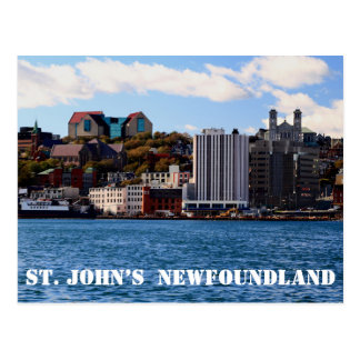 St. John's Newfoundland skyline Postcard